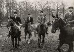 1955 Jagd in Schloss Auel v. li. W. Passmann, Ul, M. Camps