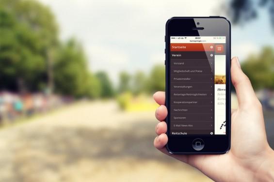 Kornspringer-Website für Smartphones
