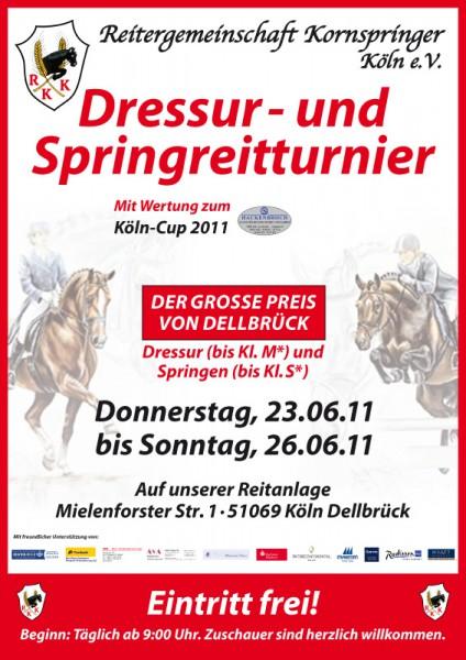 Das offizielle Plakat des Kornspringer Dressur- und Springreitturniers im Juni 2011